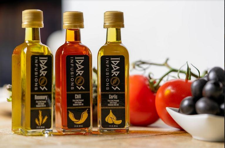 2 oz- Sample Size of Idaros Infused Extra Virgin Olive Oil- Free Dish with Purchase of 3 or more